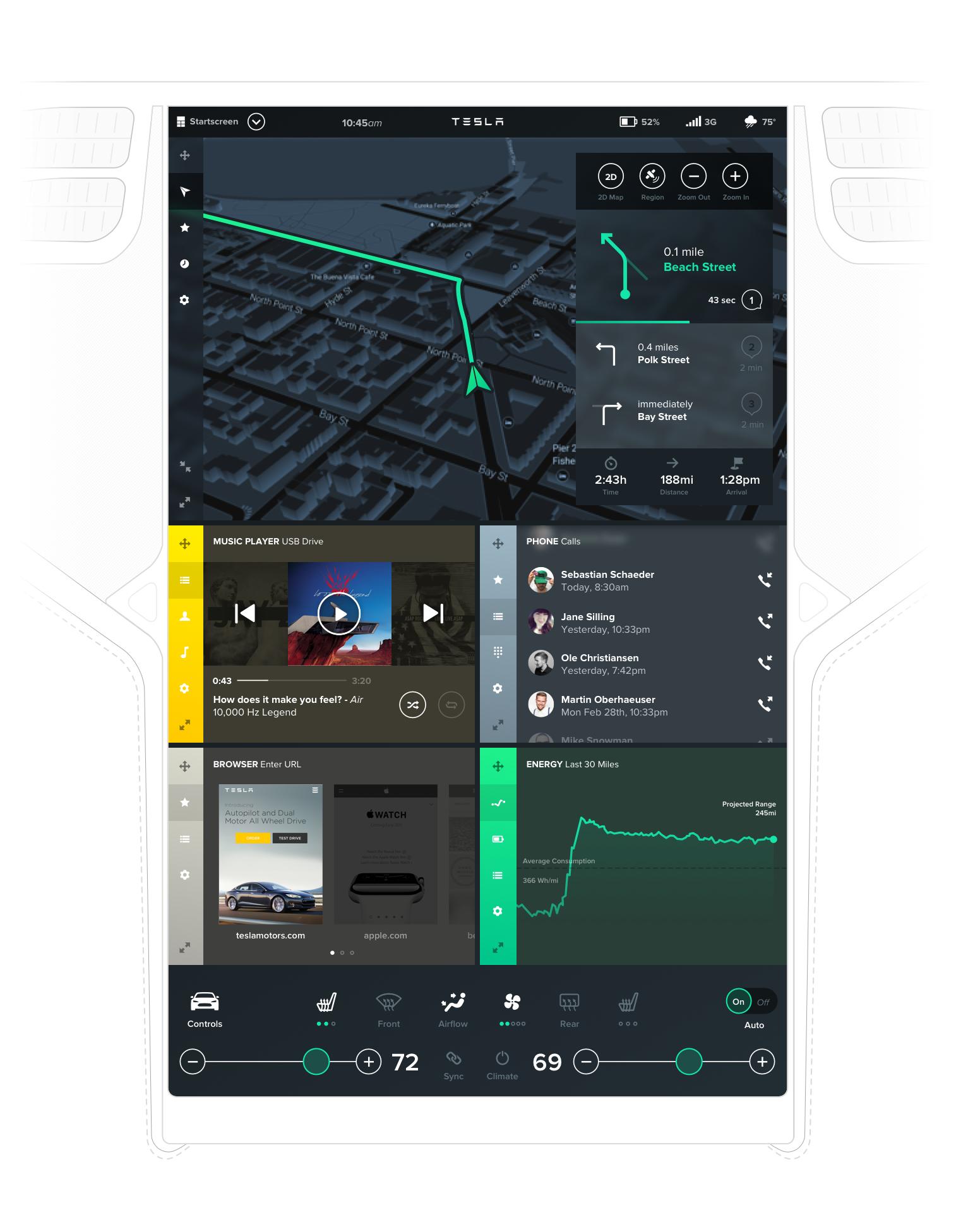 Bureau Oberhaeuser Tesla Interface Concept