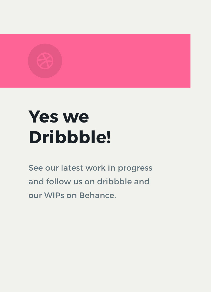 Yes We Dribbble