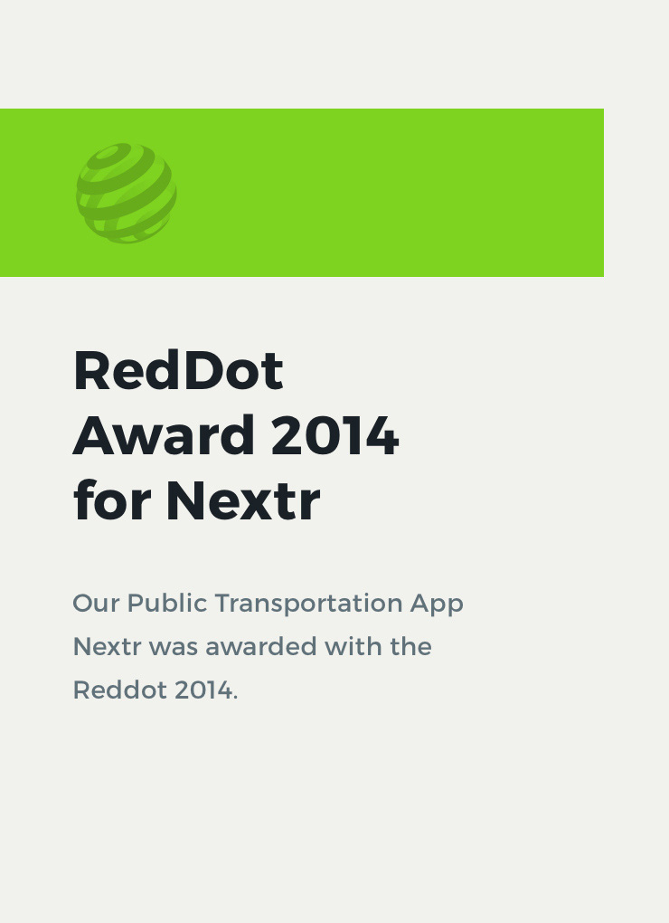 Reddot Award for Nextr